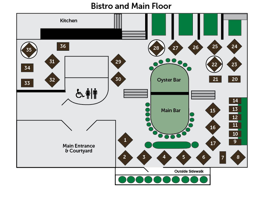 Bistro and Main Floor